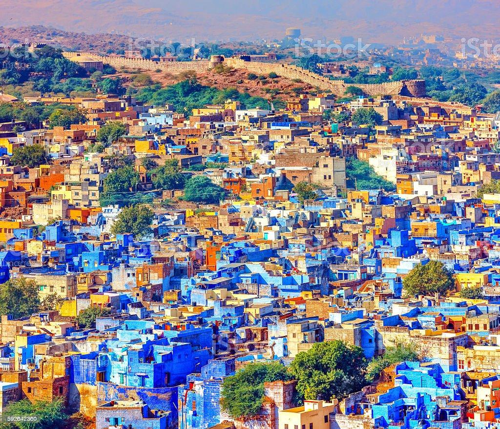 Jodhpur, the Blue City of Rajasthan, India stock photo