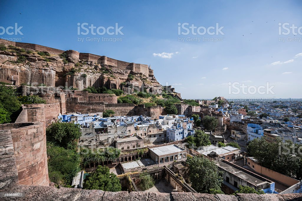 Jodhpur the blue city Rajasthan India stock photo