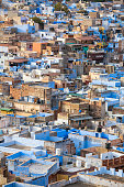Jodhpur, the Blue City seen from Mehrangarh Fort, India