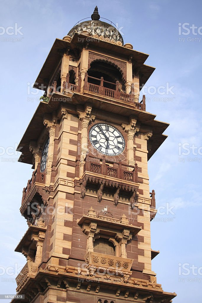 Jodpur  clock tower royalty-free stock photo