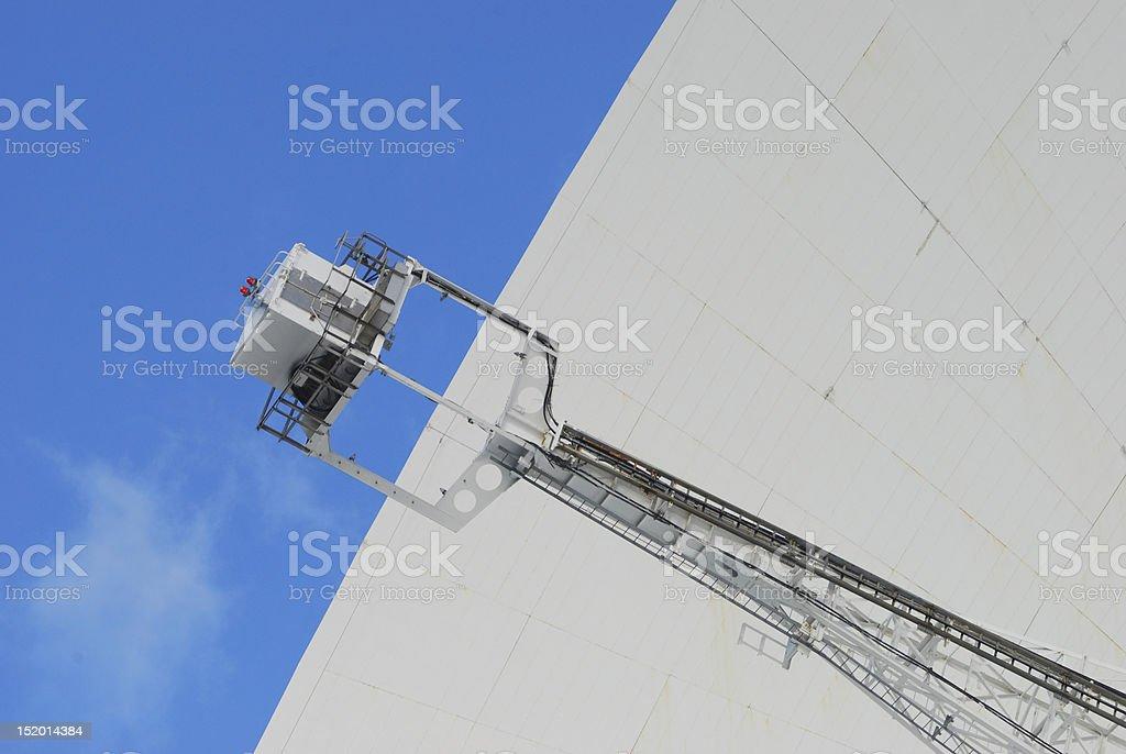 Jodrell Banck telescope close up stock photo
