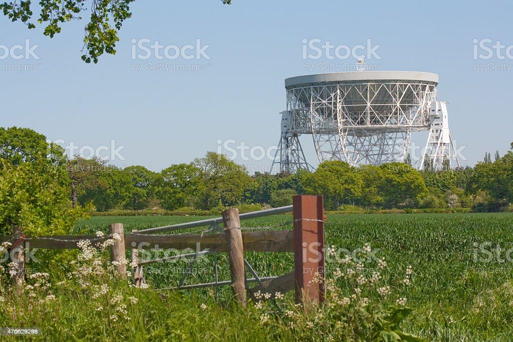 Jodrell Bank Observatory - Lovell radio telescope stock photo