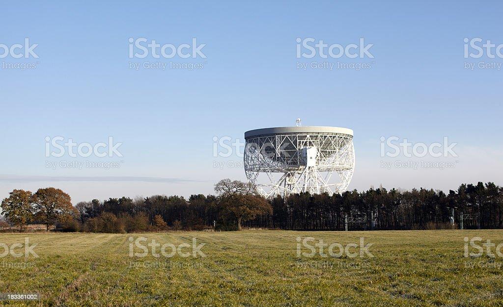 Jodrell Bank Radio Telescope, Cheshire, England stock photo
