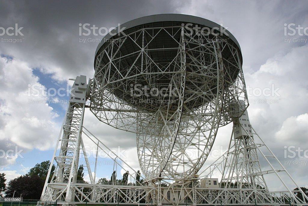 Jodrell Bank Radio Telescope stock photo