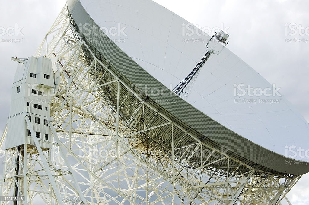 Jodrell Bank Radiotelescope Dish stock photo