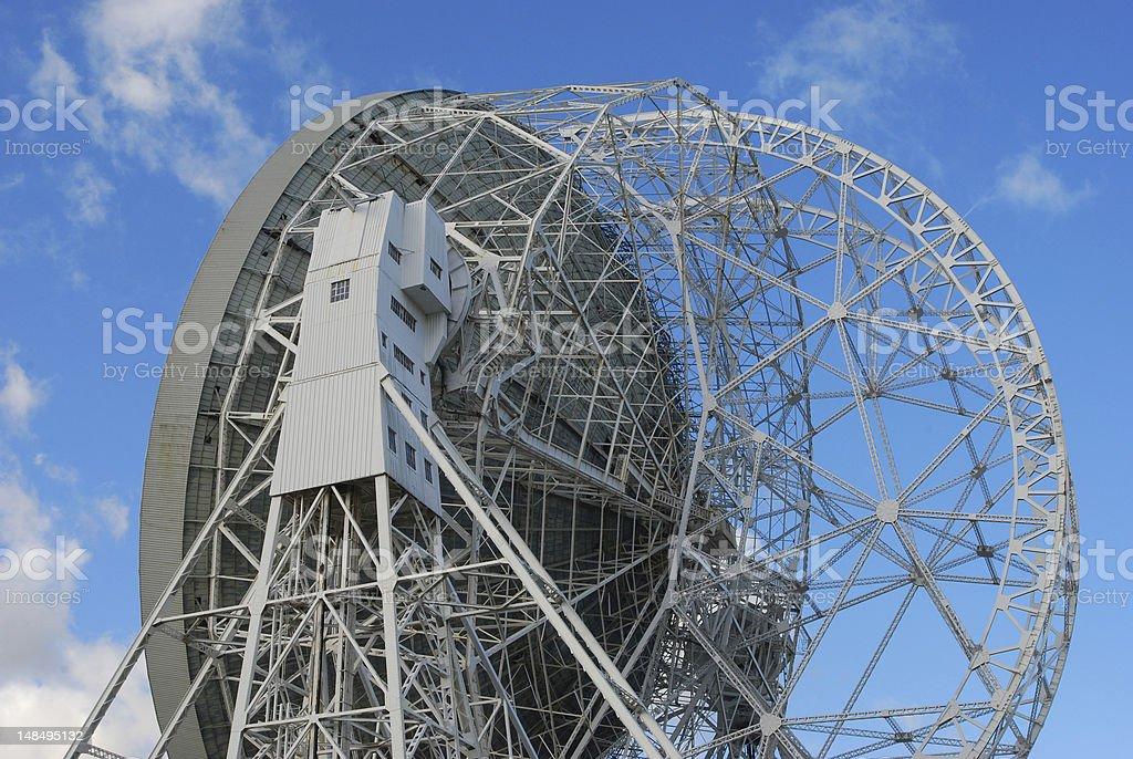 Jodrell Bank telescope in Cheshire, England stock photo