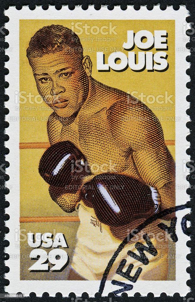 Joe Louis Stamp stock photo