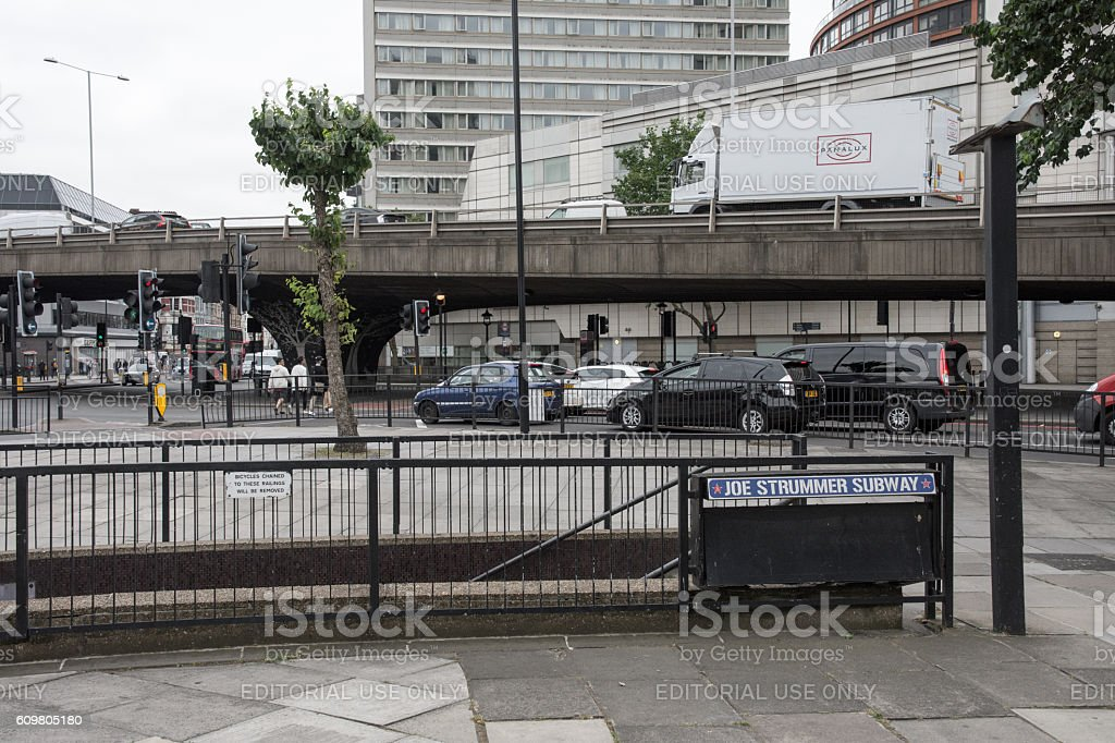 Joe Strummer Subway and Edgware Flyover stock photo