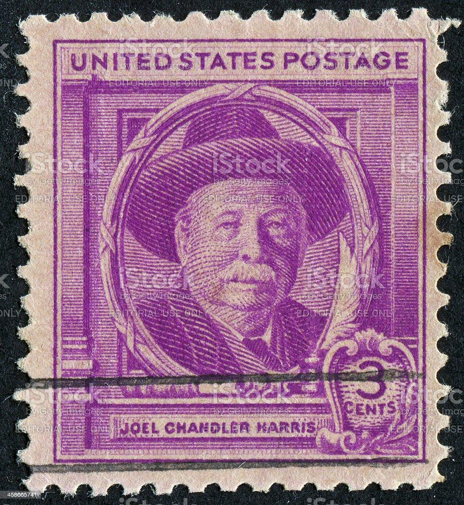 Joel Chandler Harris Stamp stock photo