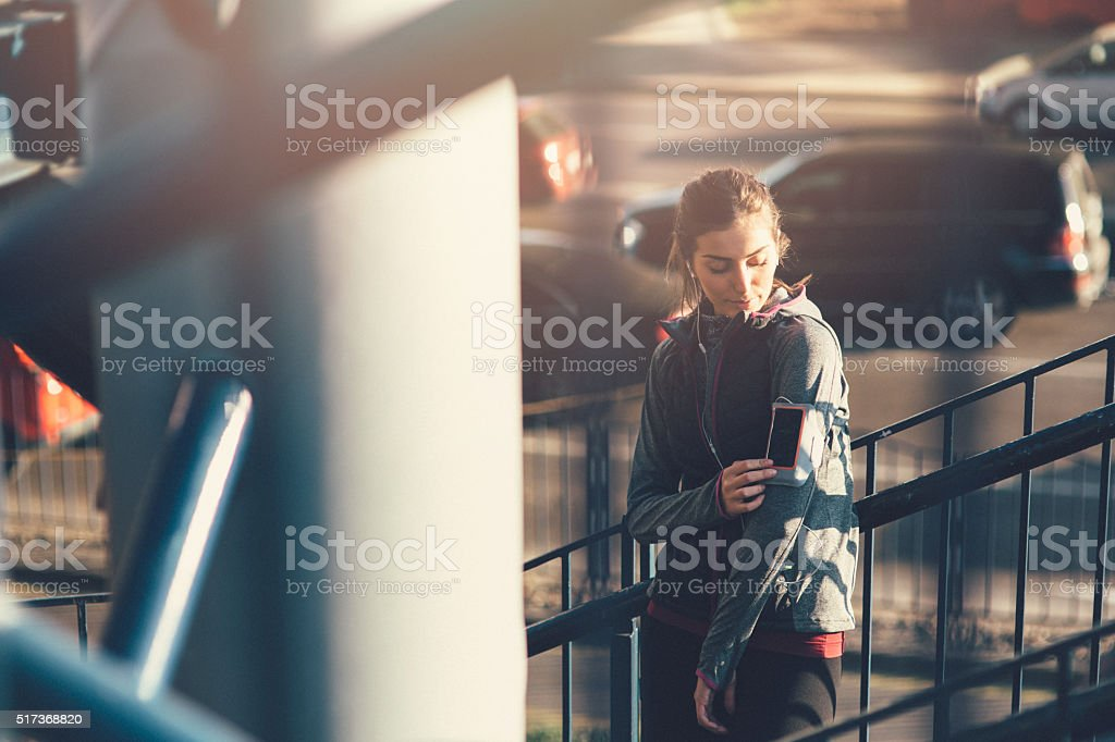 Jogger Fixing Armband stock photo