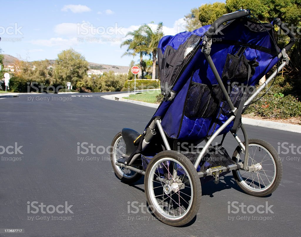 jogger stroller royalty-free stock photo