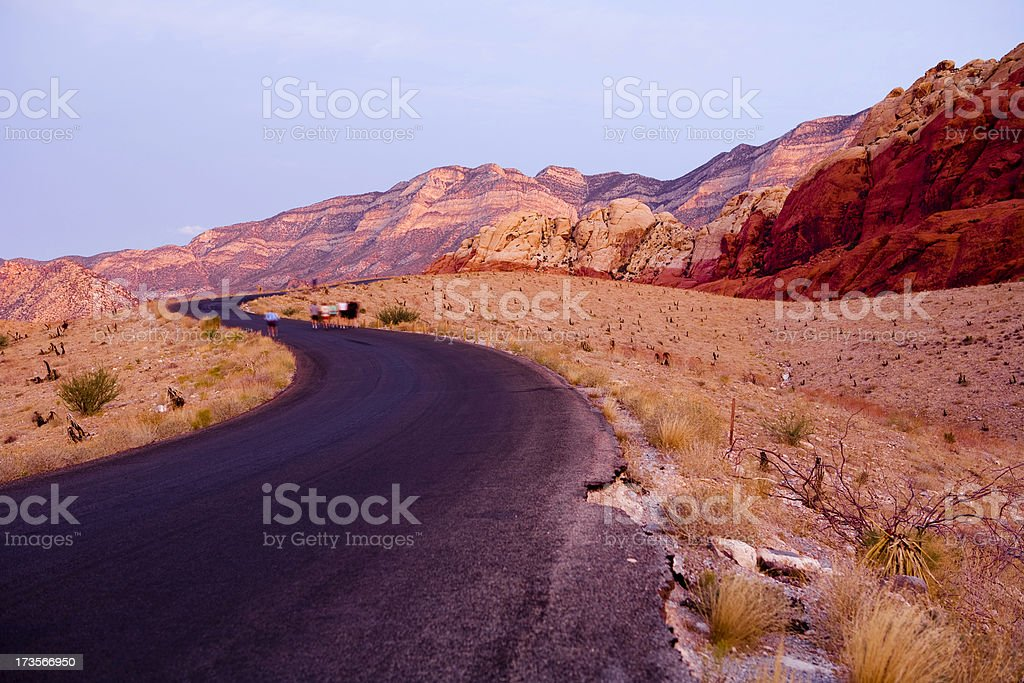Joggers in Red Rocks royalty-free stock photo