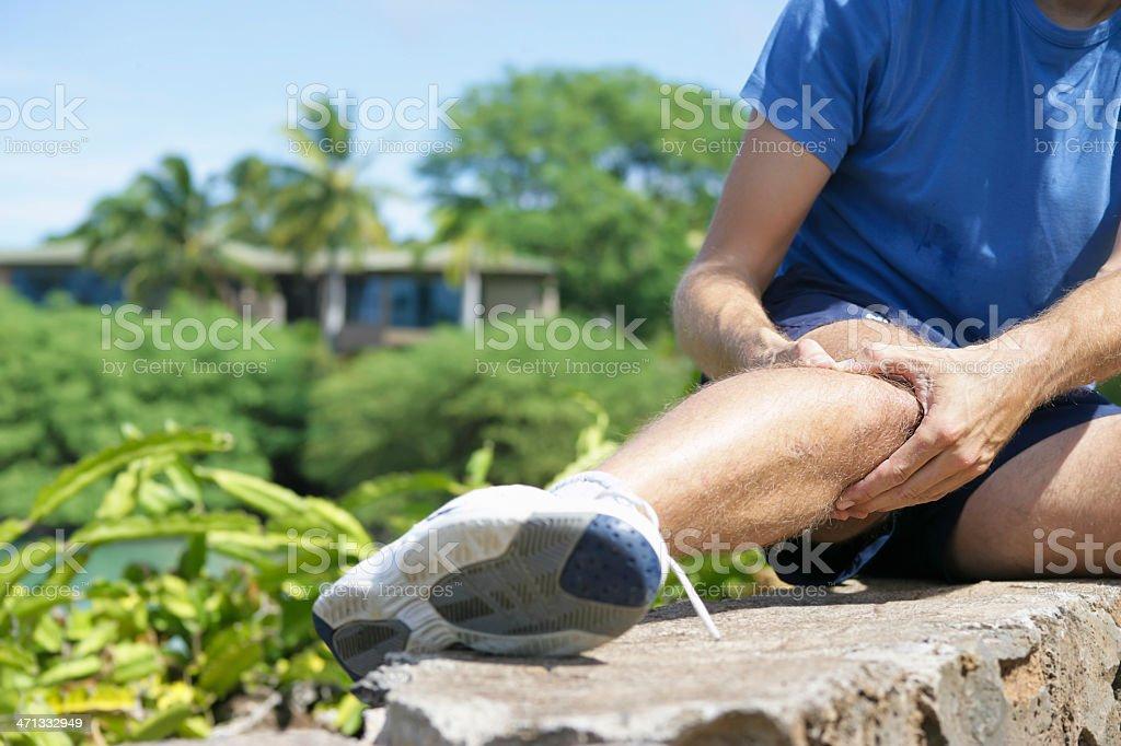 Jogger`s knee stock photo