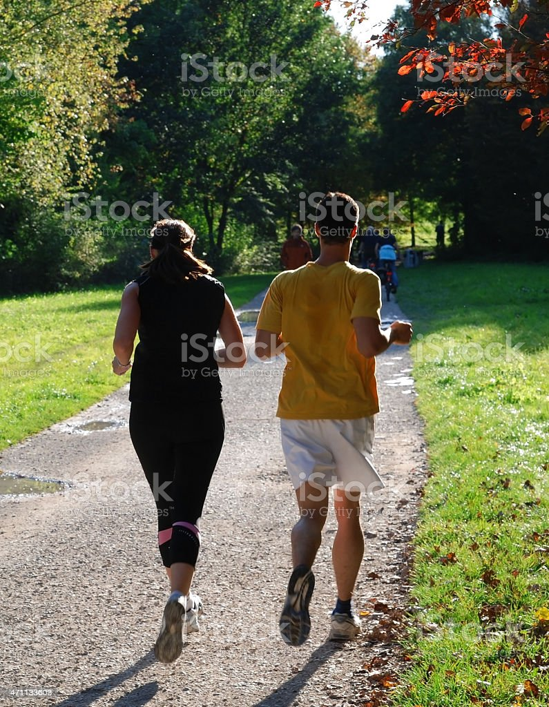 joggers rear view royalty-free stock photo
