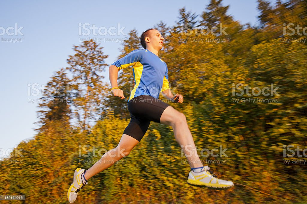 Jogging action royalty-free stock photo