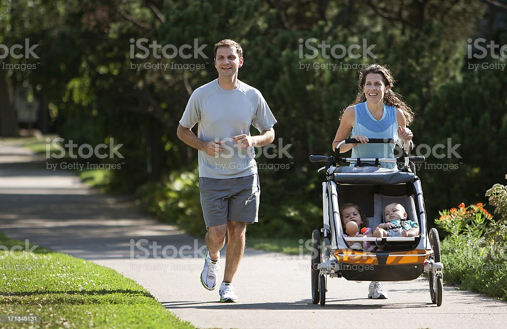 Jogging Family stock photo