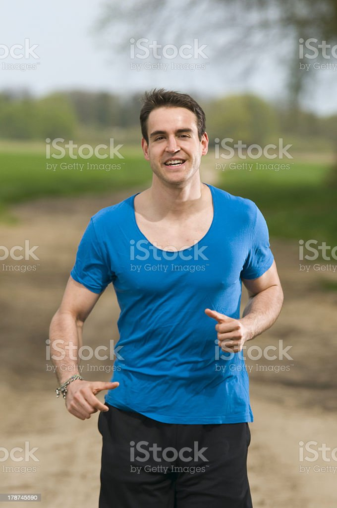 jogging for fun royalty-free stock photo