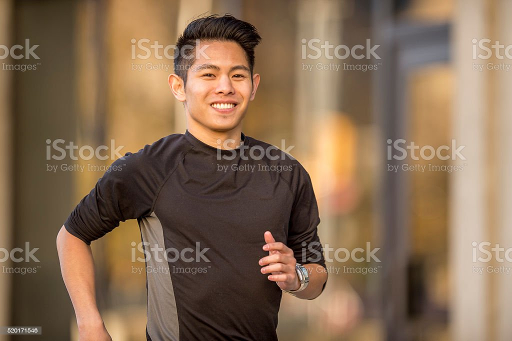 Jogging in an Urban City stock photo