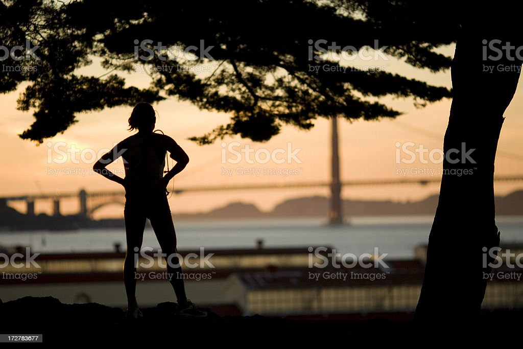 Jogging in San Francisco royalty-free stock photo