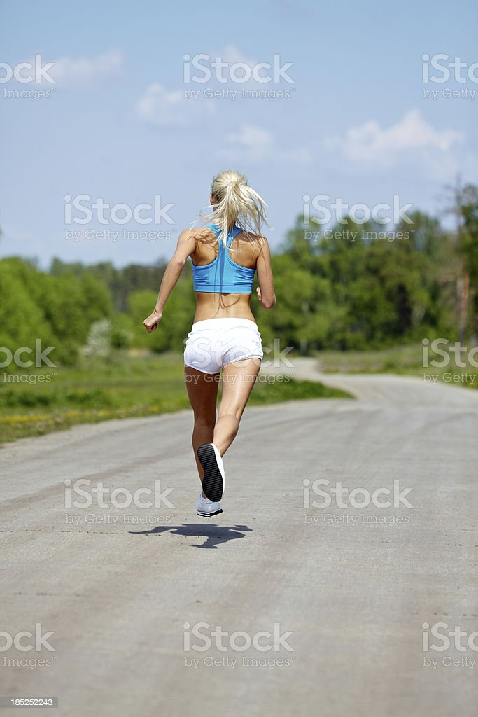 Jogging in the morning royalty-free stock photo