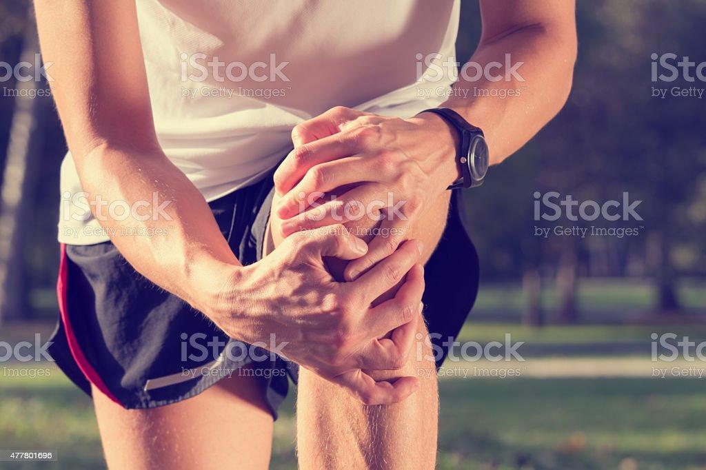Jogging Injury stock photo