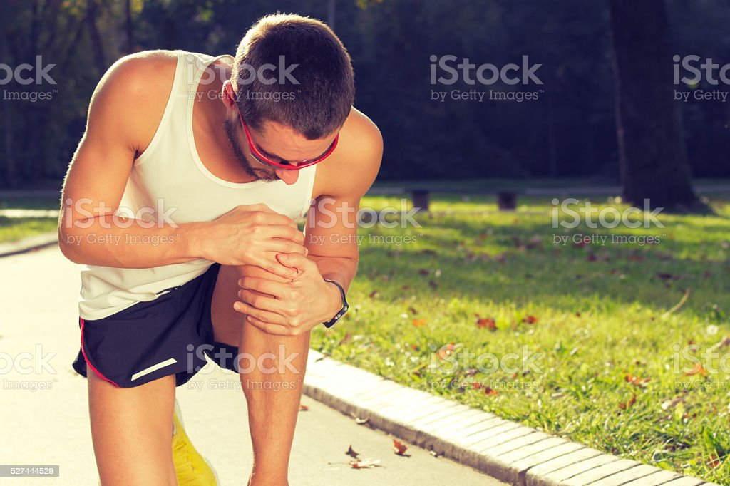 Jogging Injury stock photo