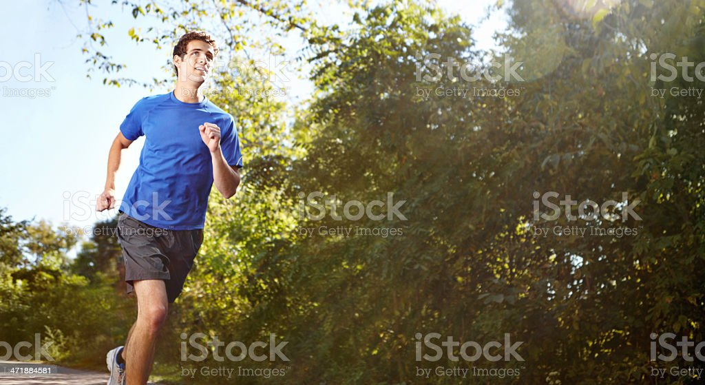 Jogging keeps my heart, body and mind in great shape royalty-free stock photo