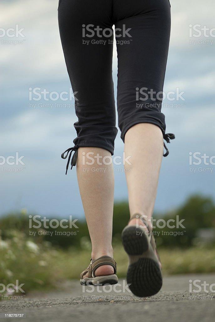 Jogging legs closeup royalty-free stock photo