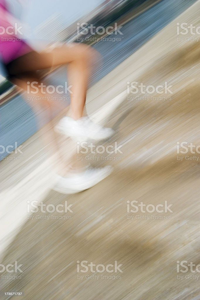 Jogging motion blur stock photo