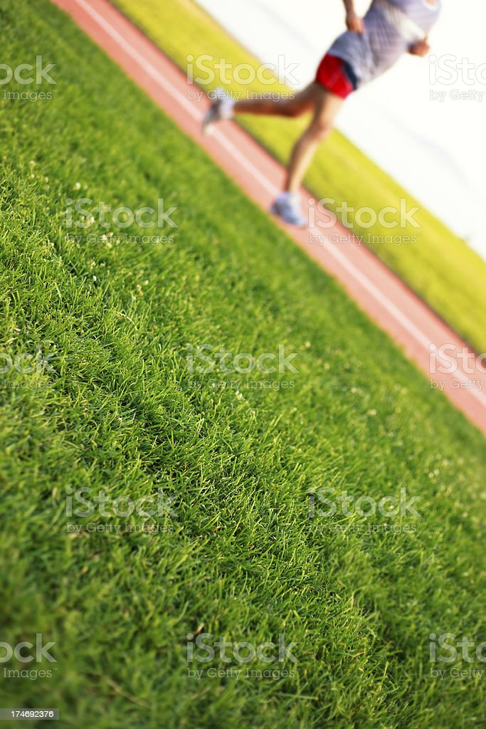 jogging on park royalty-free stock photo