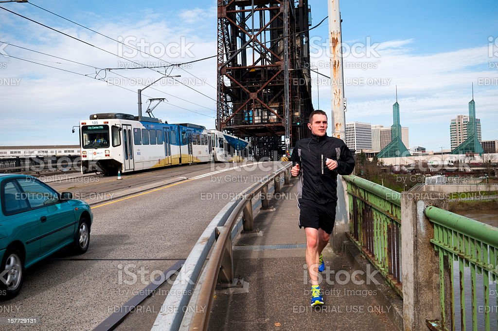 Life on a Portland bridge royalty-free stock photo