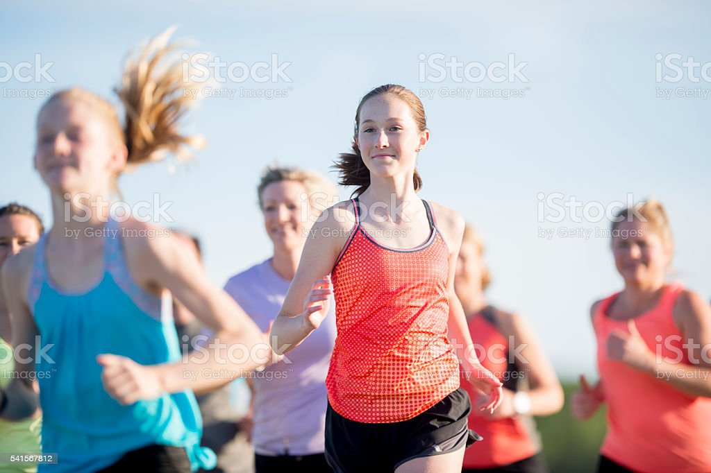 Jogging Outdoors stock photo