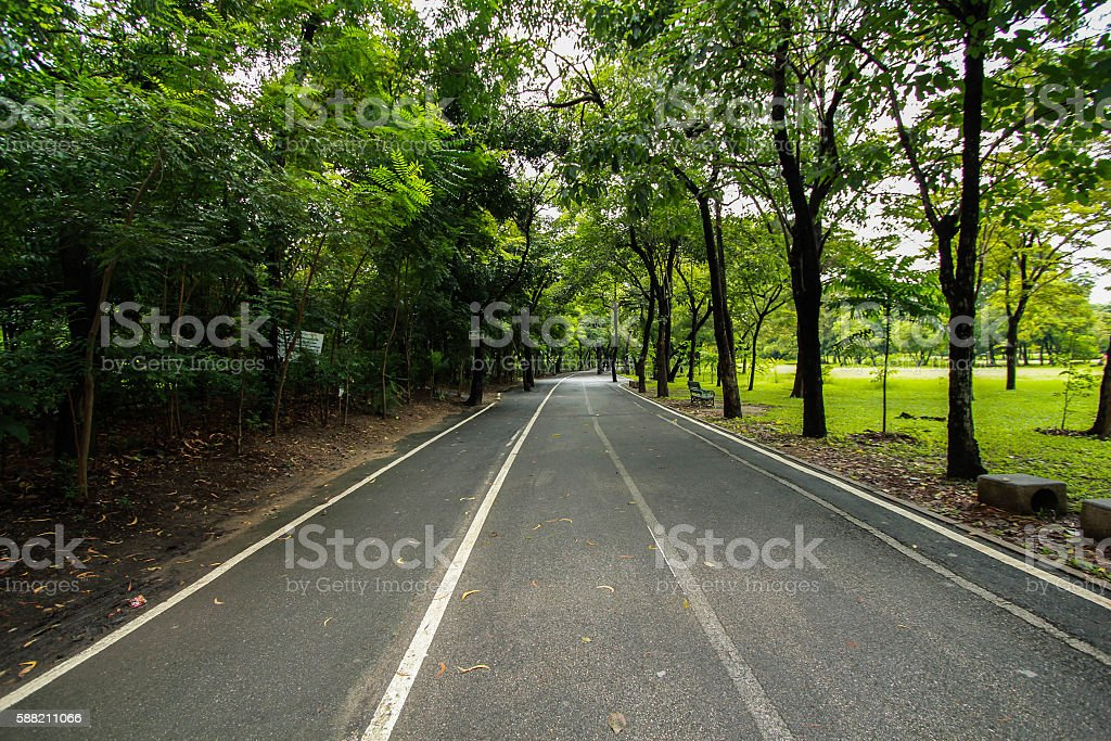 jogging path in the park royalty-free stock photo