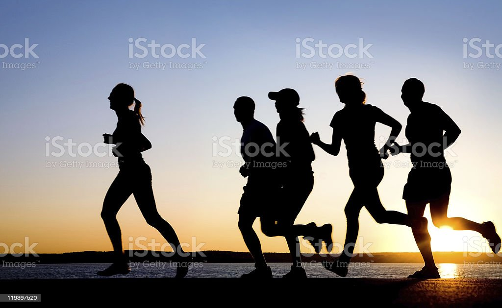 jogging stock photo