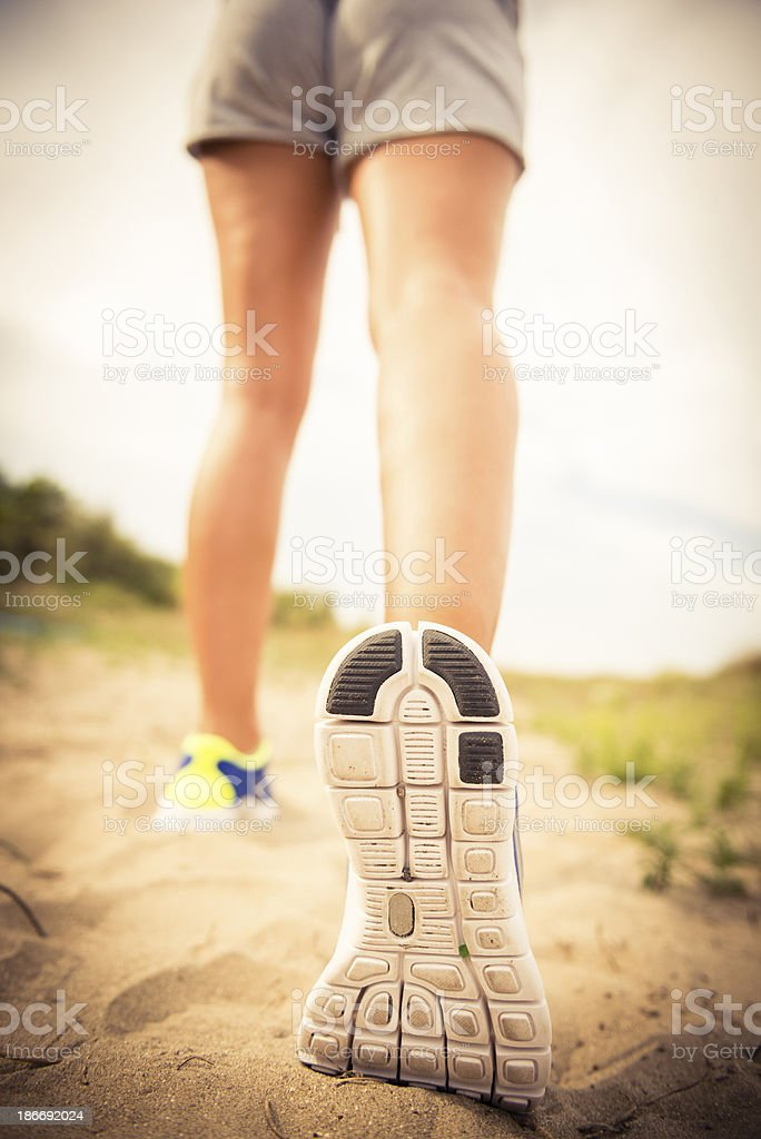 jogging shoes closeup royalty-free stock photo