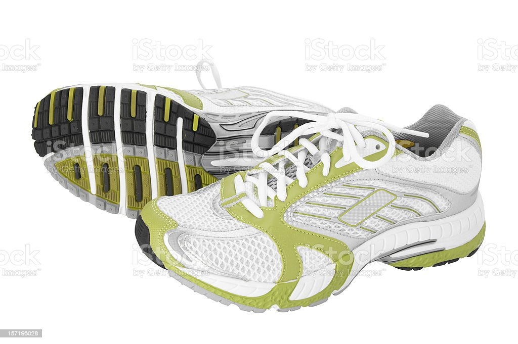 jogging shoes with detailed clipping path royalty-free stock photo