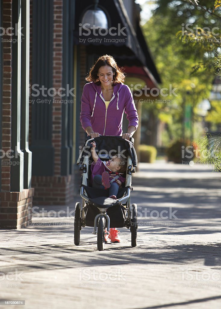 Jogging Stroller royalty-free stock photo