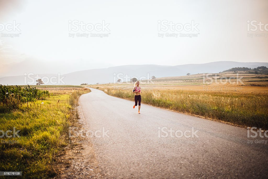 Jogging time stock photo