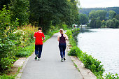 Jogging young people