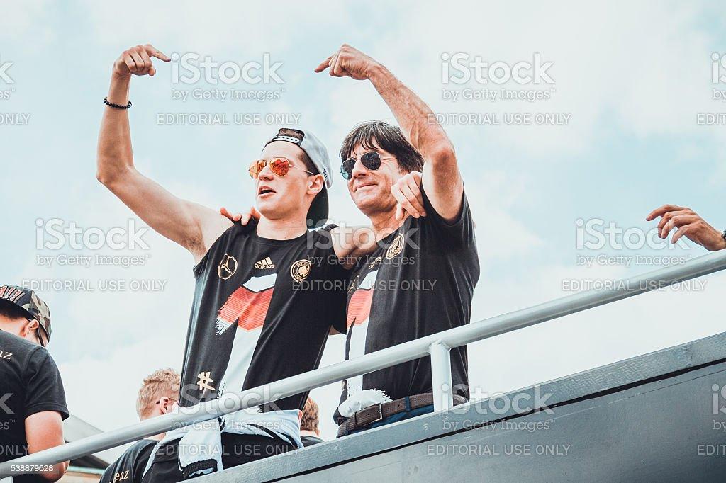 Jogi Löw and Julian Weigl stock photo