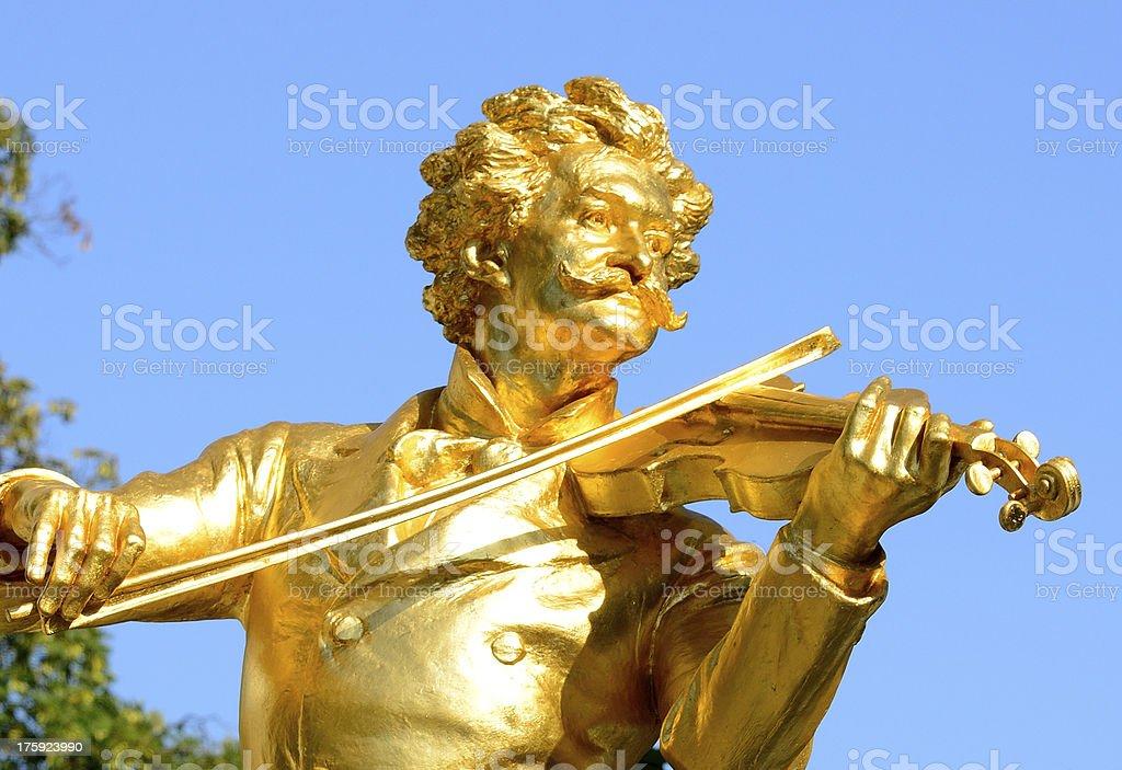 Johann Strauss Monument stock photo