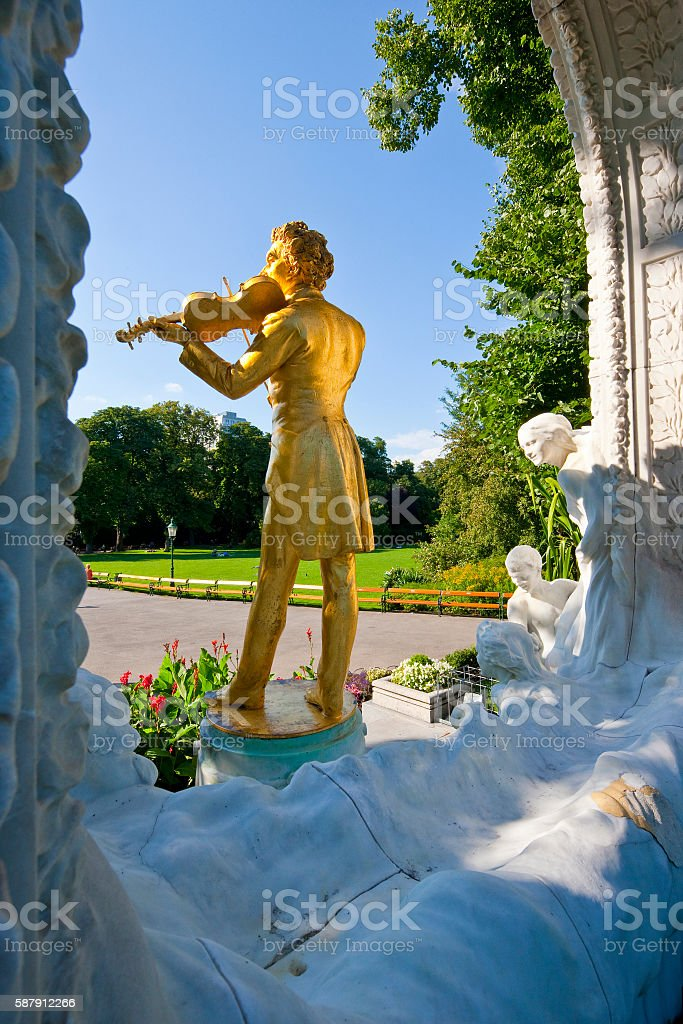 Johann Strauss Monument, Vienna stock photo