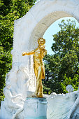 Johann Strauss statue in