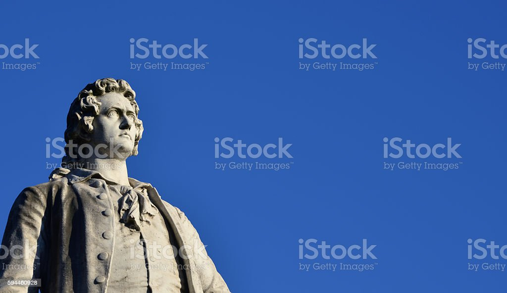 Johann Wolfgang Goethe (with copy space) stock photo