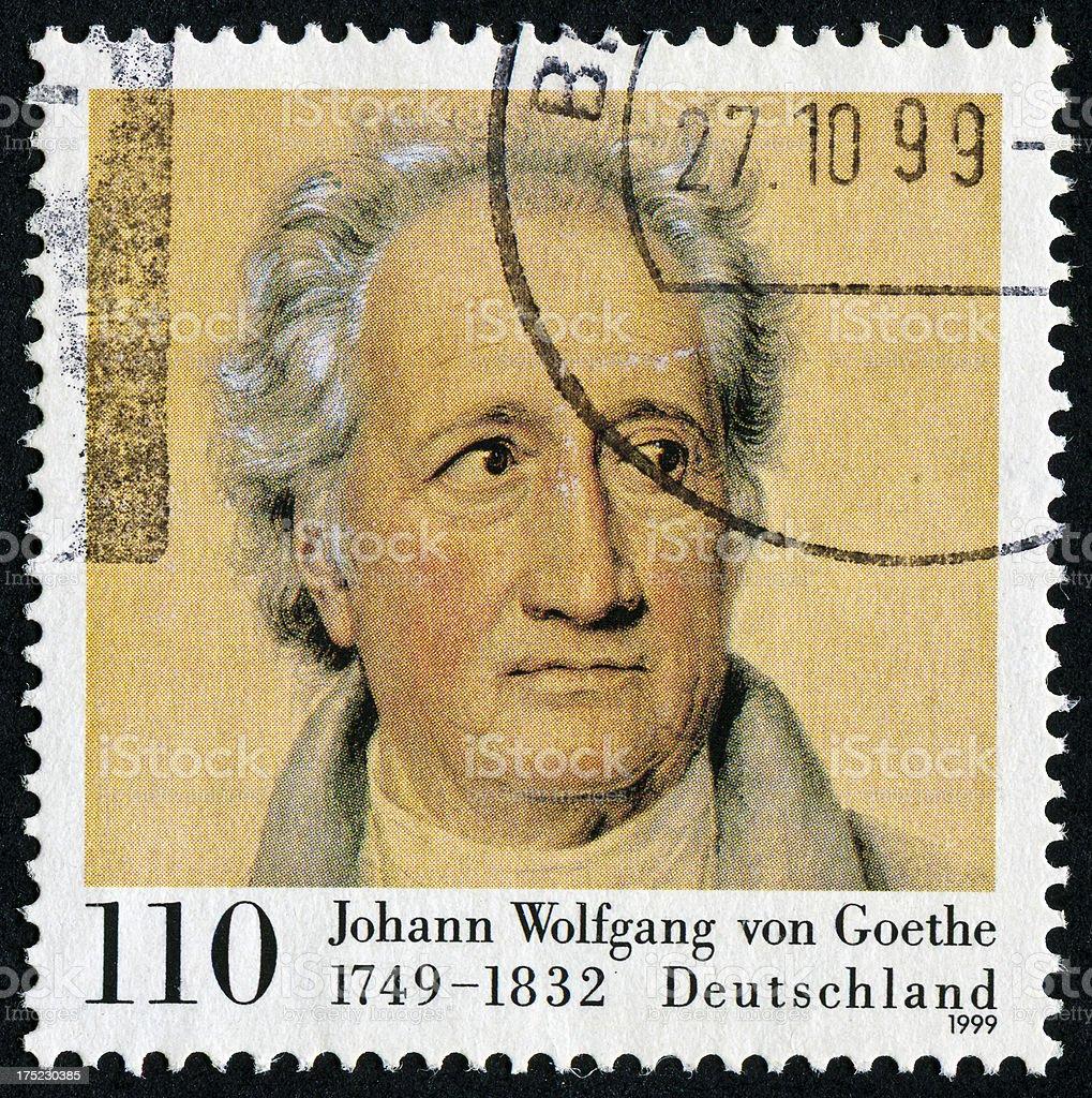 Johann Wolfgang Von Goethe Stamp royalty-free stock photo