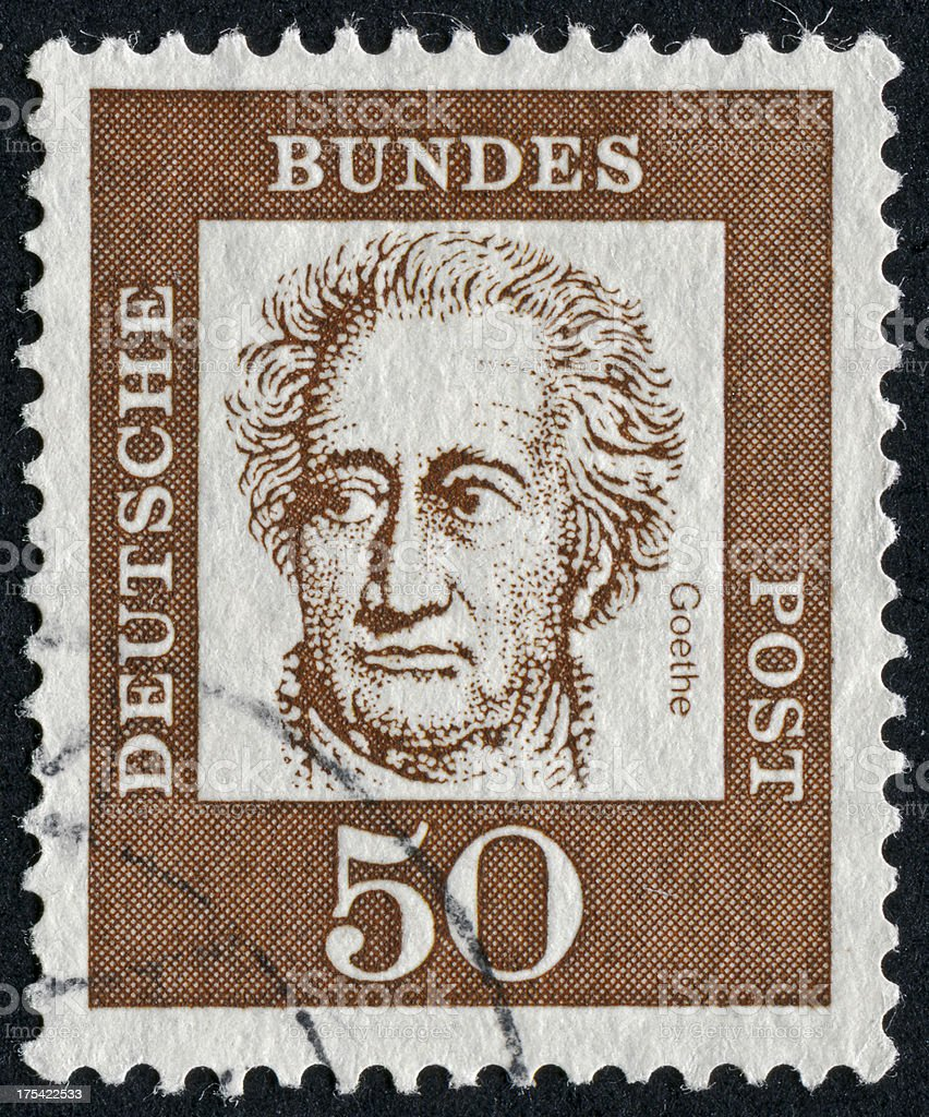 Johann Wolfgang Von Goethe Stamp stock photo