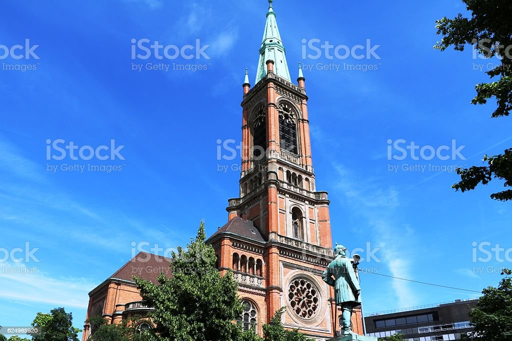 Johannes Church in Düsseldorf, Germany stock photo