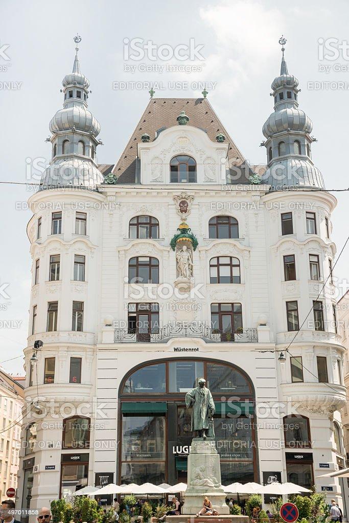 Johannes Gutenberg memorial statue - Vienna stock photo