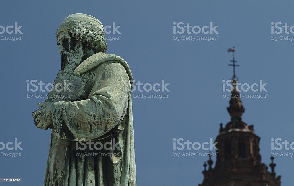 Johannes Gutenberg stock photo
