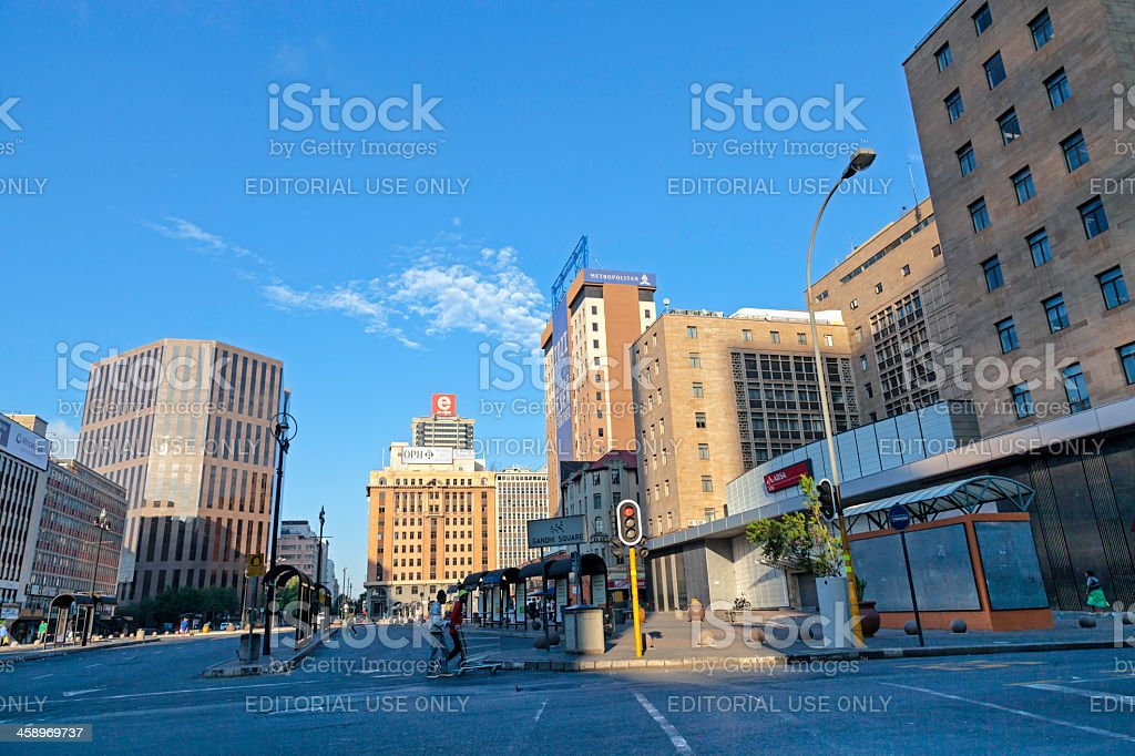 Johannesburg Bus Station at Ghandi Square royalty-free stock photo